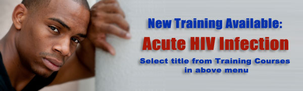 New training available: Acute HIV Infection